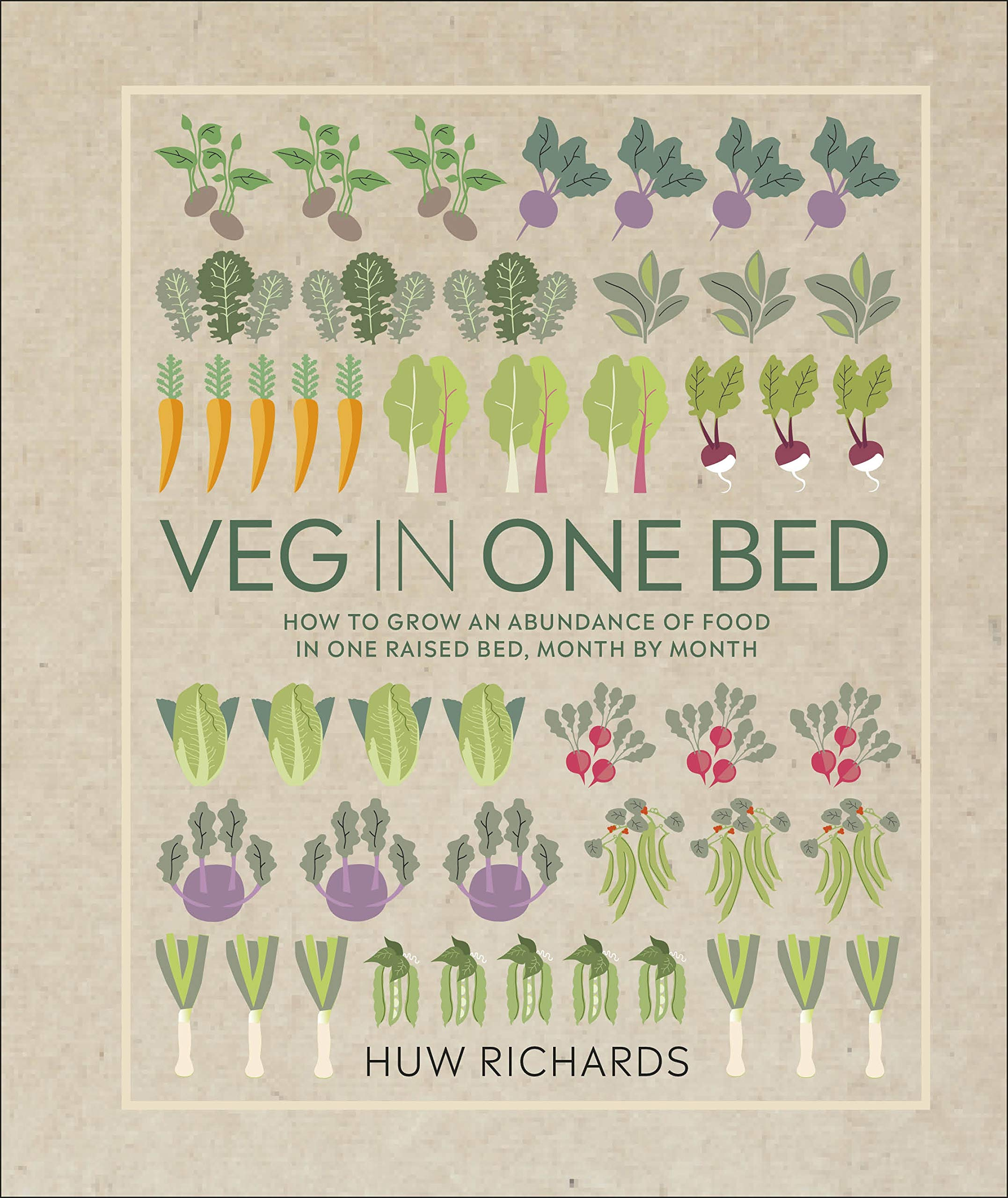 Veg in One Bed: How to Grow an Abundance of Food in One Raised Bed, Month by Month by Huw Richards |